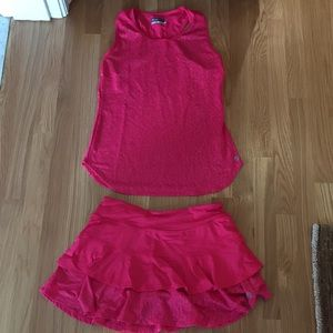 Lija Matching Pink Tennis Skirt and Top- size S/P